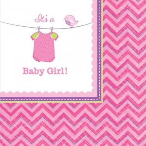 Amscan Baby Shower Girl Shower With Love Beverage Napkins (16)