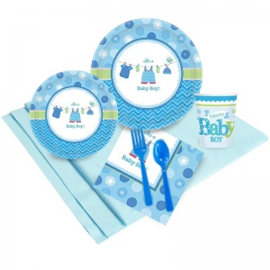 Birthday Express Baby Shower Boy Shower With Love Party Pack (8)