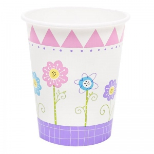 BuySeasons Butterfly Party 9oz Paper Cups (8)