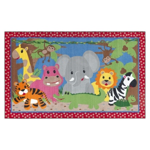 Flagship Carpets Cutie Jungle: 3'X5'