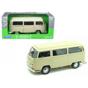 1972 Volkswagen Bus Van T2 Cream 1/24 Diecast Model by Welly