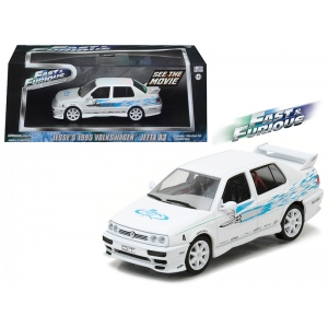 "Jesse's 1995 Volkswagen Jetta A3 ""The Fast and The Furious"" Movie (2001) 1/43 Diecast Model Car by Greenlight"