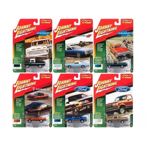 Classic Gold 2017 Release 2 Set B of 6 cars 1/64 Diecast Model Cars by Johnny Lightning