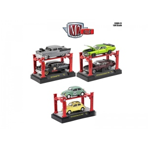 Auto Lift Series 15, 6pc Diecast Car Set 1/64 Diecast Model Cars by M2 Machines