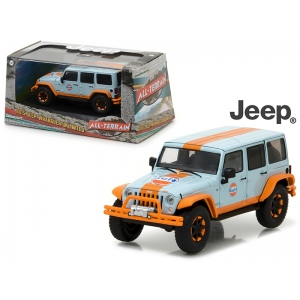 2015 Jeep Wrangler Unlimited Gulf Oil with Off-Road Bumpers 1/43 Diecast Model Car  by Greenlight