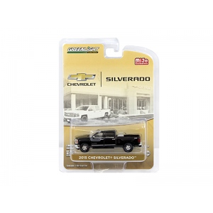 2015 Chevrolet Silverado Pickup Truck Black with Tow Hitch and Tool Box Limited Edition to 2400pcs 1/64 Diecast Model Car by Greenlight