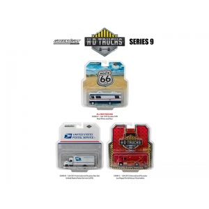 Heavy Duty Trucks Series 9, Set of 3 Trucks 1/64 Diecast Models by Greenlight
