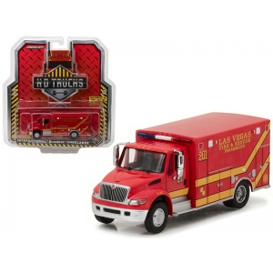 2013 International Durastar Las Vegas Fire & Rescue Paramedics Ambulance HD Trucks Series 9 1/64 Diecast Model by Greenlight