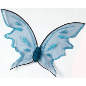 Hot Color Butterfly Wings - Blue: One-Size, Everyday, Adult