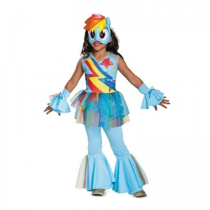 My Little Pony: Rainbow Dash Deluxe Toddler Costume (3T-4T): 3T-4T, Everyday, Toddler