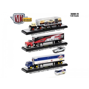 Auto Haulers Release 25, 3 Trucks Set 1/64 Diecast Models by M2 Machines