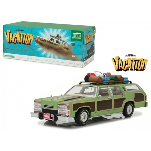 "1979 Family Truckster Wagon Queen ""National Lampoon's Vacation"" (1983) Movie with Rooftop Luggage Artisan Collection 1/18 Diecast Model Car by Greenlight"