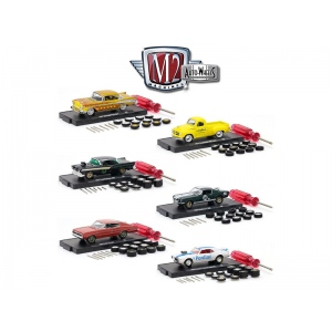 Auto Wheels 6 Cars Set Release 6 IN BLISTER PACKS 1/64 Diecast Model Cars by M2 Machines