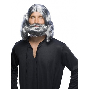 Rubie's Costumes Mens Grey Biblical Wig and Beard Set