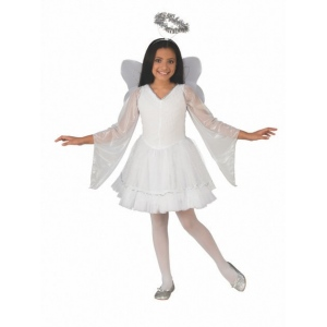 Girls Deluxe Angel Costume - Small