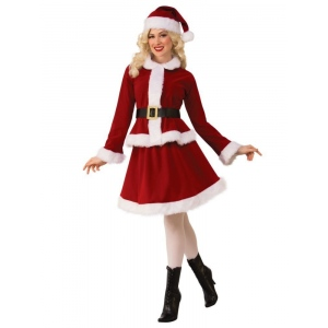Womens Miss Claus Costume - Large