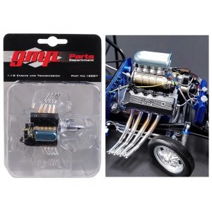Ohio George's 1967 Ford Mustang 427 Blown SONC Gasser Engine and Transmission Replica 1/18 by GMP
