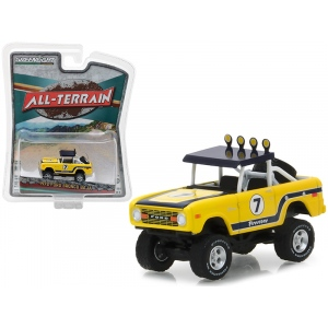 "1972 Ford Bronco Baja Yellow ""All Terrain"" Series 6 1/64 Diecast Model Car by Greenlight"