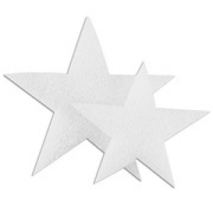 "Hygloss Styrofoam Stars: Bulk Pack, 6"", 50 Pieces"