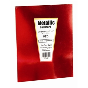 "Hygloss Metallic Poster Board - 10 ct., 12""x12"", Red"