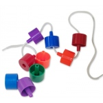 Edushape® Ez-Grip Jumbo Beads: 58 Pieces