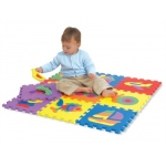 Edushape® Edu-Tile Mat: Puzzles, 10 Pieces