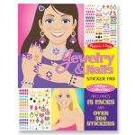 Jewelry & Nails Glitter Stickers Pad: 4+ Years