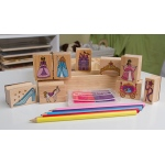 Wooden Princess Stamp Set: 4+ Years