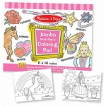 Jumbo Coloring Pad: Pink, 3+ Years