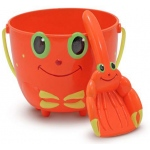 Clicker Crab Pail and Shovel Sand Toys: 2+ Years