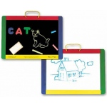 Magnetic Chalkboard and Dry-Erase Board: 3+ Years