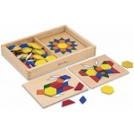 Pattern Blocks and Boards Classic Toy: 3+ Years
