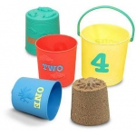 Seaside Sidekicks Nesting Pails Sand Toys: 2+ Years