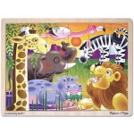 African Plains Wooden Jigsaw Puzzle: 24 Pieces, 3+ Years