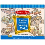 Jumbo Coloring Pad - Vehicles: 3+ Years