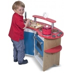 Cook's Corner Wooden Play Kitchen: 3+ Years