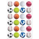 Hygloss Sports Ball Stickers: 3 Sheets