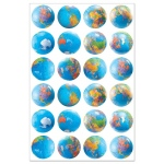 Hygloss Globe Stickers: 20 Sheets