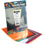 "Hygloss Metallic Foil Paper: 10 each of 5 Colors, 10"" x 13"", 50 Sheets"