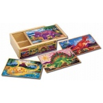Dinosaur Jigsaw Puzzles in A Box: 3+ Years