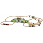 Mountain Tunnel Wooden Train Set: 3+ Years