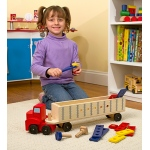 Big Rig Building Truck Wooden Play Set: 3+ Years