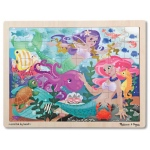 Mermaid Fantasea Wooden Jigsaw Puzzle: 48 Pieces, 4+ Years