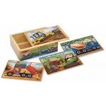 Construction Jigsaw Puzzles in A Box: 3+ Years