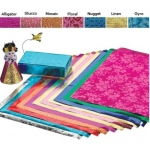 Hygloss Embossed Metallic Sheets: Fuchsia, Alligator