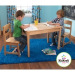 Kidkraft Rectangle Table & 2 Chair Set- natural: Available in Natural and Espresso
