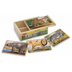 Wild Animals Jigsaw Puzzles in A Box: 3+ Years