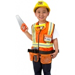Construction Worker Role Play Costume Set: 3 - 6 Years