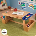 Kidkraft Art Table with Drying Rack and Storage: Paper roll & 2 plastic paint cups with lids are included