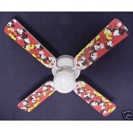 Ceiling Fan Designers Disney Mickey Mouse #1 Ceiling Fan: 42""